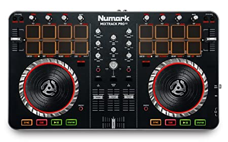 front facing numark mixtrack pro II