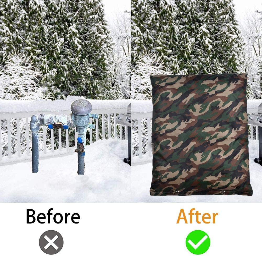 Outdoor Waterproof Backflow Overflow Pipe Insulation Bag Green Camouflage Pouch