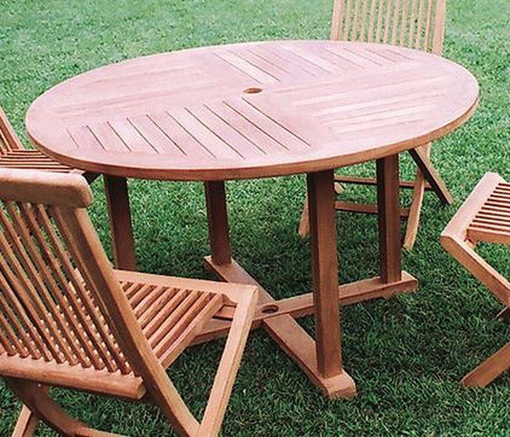 ジャービス商事 天然木無垢材 ガーデンテーブル 丸テーブル1111 20708 テーブルのみ B007CUVQD6