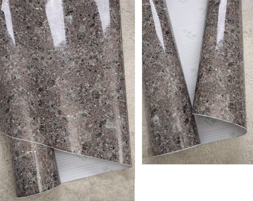 Marble Contact Paper Self Adhesive Film Vinyl Granite Shelf Liner for Covering Counter Top Kitchen Cabinet Backsplash (24x78.6 Inch) F&U