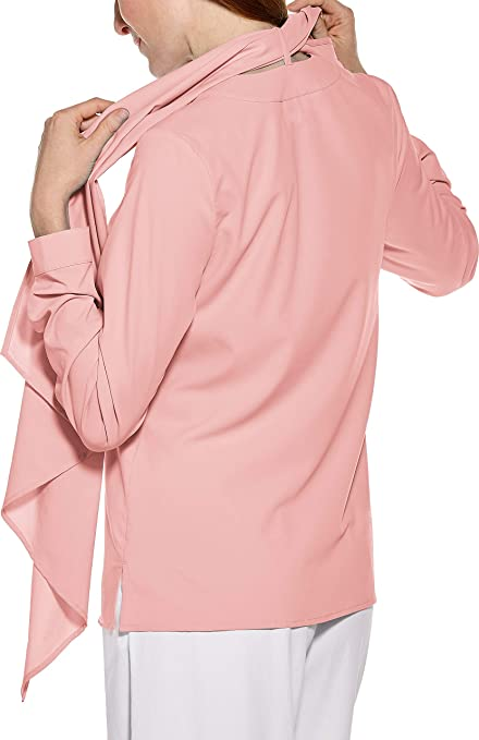 dc7282d9eacb24 Coolibar UPF 50+ Women s Chillon Blouse - Sun Protective (X-Small- Blush  Pink) at Amazon Women s Clothing store