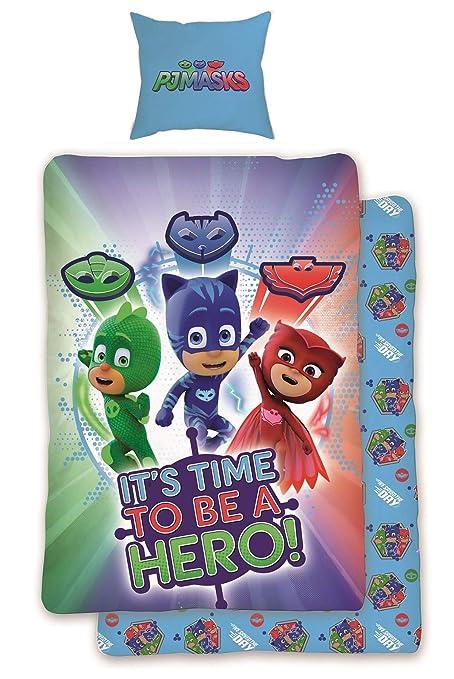 Pj Masks Save The Day Einzelbettbezug Set Wende Kinder Bettwäsche