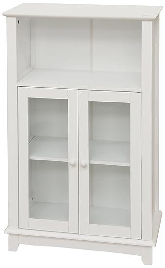 Galileo Casa White Möbelstück Mit 2 Türen Aus Glas Und 1 Regal