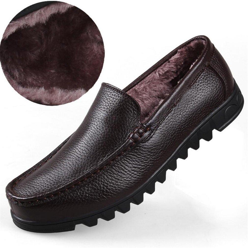 Mocasines Casuales de los Hombres Zapatos Planos Resbalón en Trabajo de Trabajo Formal Cómodo Mocasines Costura a Mano Antideslizante Zapatos de conducción Barco de conducción Punta Redonda 47 EU|Segundo