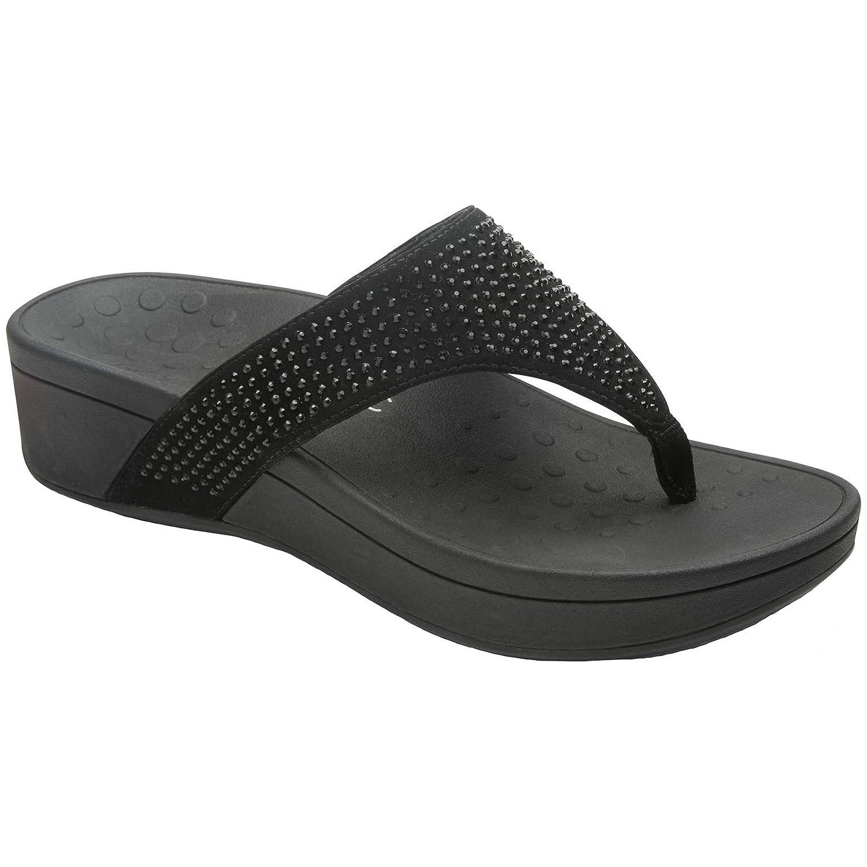 Noir Vionic femmes Pacific Naples Suede Sandals
