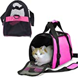Dog Cat Pet Carrier Portable Travel Bag - Pink