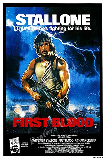 Posters USA - Stallone Rambo First Blood Movie Poster GLOSSY FINISH - FIL150 (24