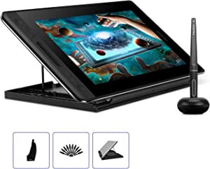 HUION KAMVAS Pro 12 GT-116 Drawing Tablet with Full Laminated Screen Digital Graphics Pen Display with Battery-Free Stylus Tilt Touch Bar Adjustable Stand-11.6inch