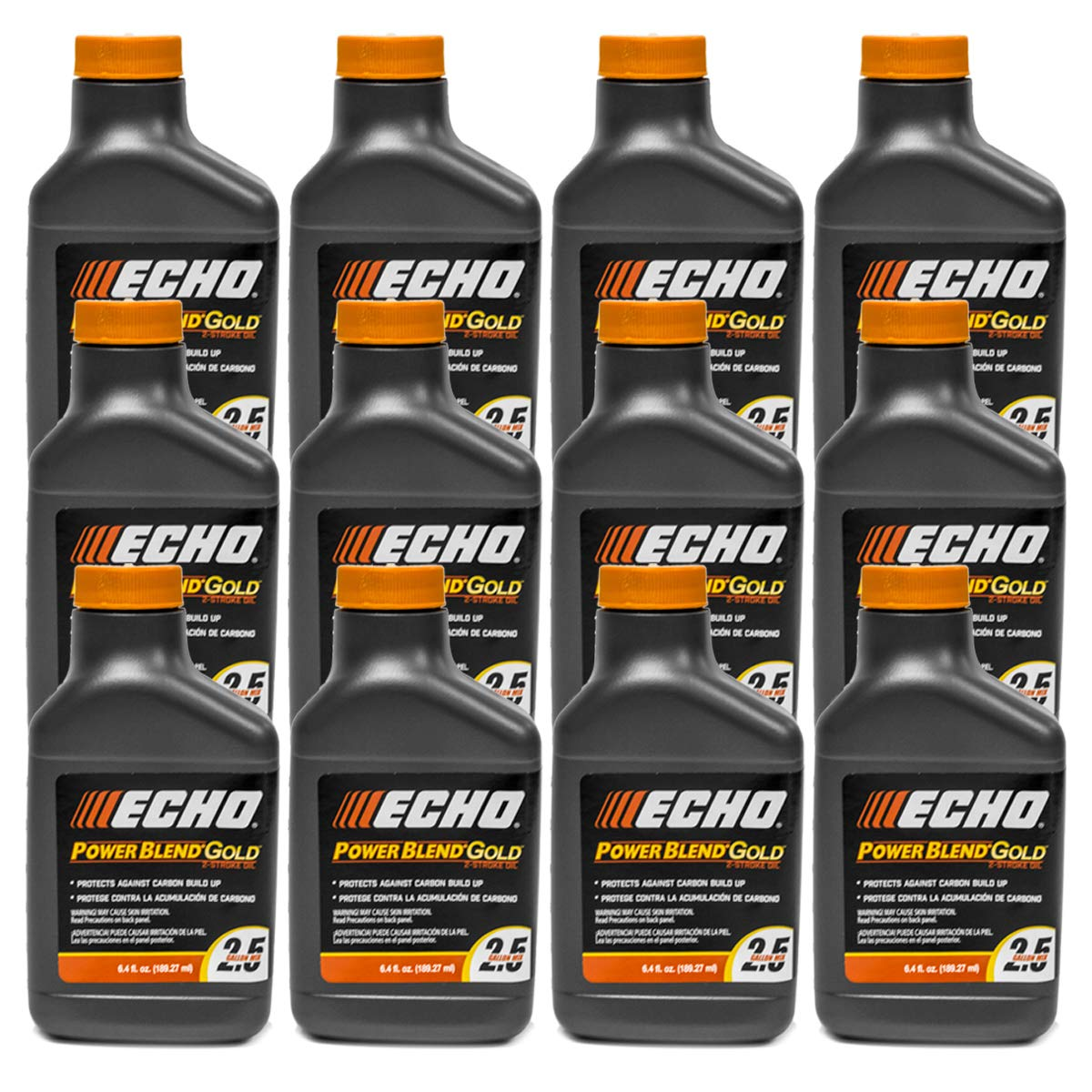 12PK Echo Oil 6.4 oz Bottles 2 Cycle Mix for 2.5 Gallon - Power Blend 6450025 by Replaces Echo
