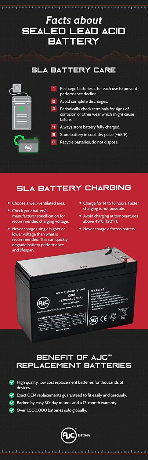 This is an AJC Brand Replacement Enduring CB12-12 12V 12Ah Scooter Battery