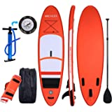 ANCHEER Inflatable SUP Stand Up Paddle Board 10', Inflatable Paddle Board (6'' Thick SUP board), iSUP Board Package with Adjustable Paddle, Pump and Backpack