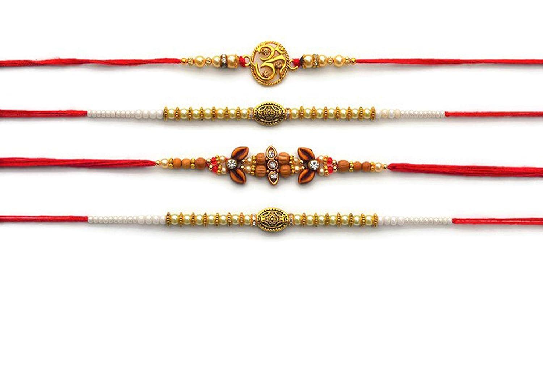 2 x Rakhi Brother Raksha Bandhan Friendship Wedding Bracelet Wrist Band