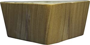 """Recliner-Handles Replacement Sofa Sectional Couch Love Seat Ottoman Leg Triangular 3"""" Natural Oak, Set of 4"""