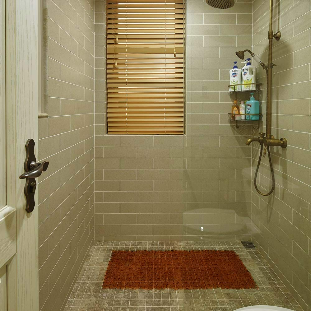 FANSIR Duschmatte rutschfest Dusche Antirutschmatte Dusche Rutschmatte Mit Saugn/äpfen Braun