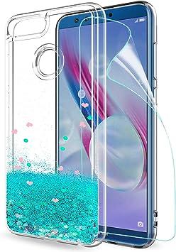 LeYi Funda Huawei Honor 9 Lite Silicona Purpurina Carcasa con HD ...