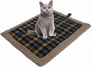 POSEAGLE Small Self Heating Lamb Plush Cat Dog Mattress Waterproof Warm Pet Pad