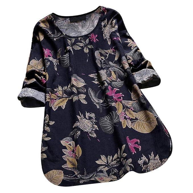 Yvelands Las Camisas de Manga Larga de la Blusa de la Blusa de la Blusa del Cuello en v de Las Mujeres de la liquidación rematan: Amazon.es: Ropa y ...