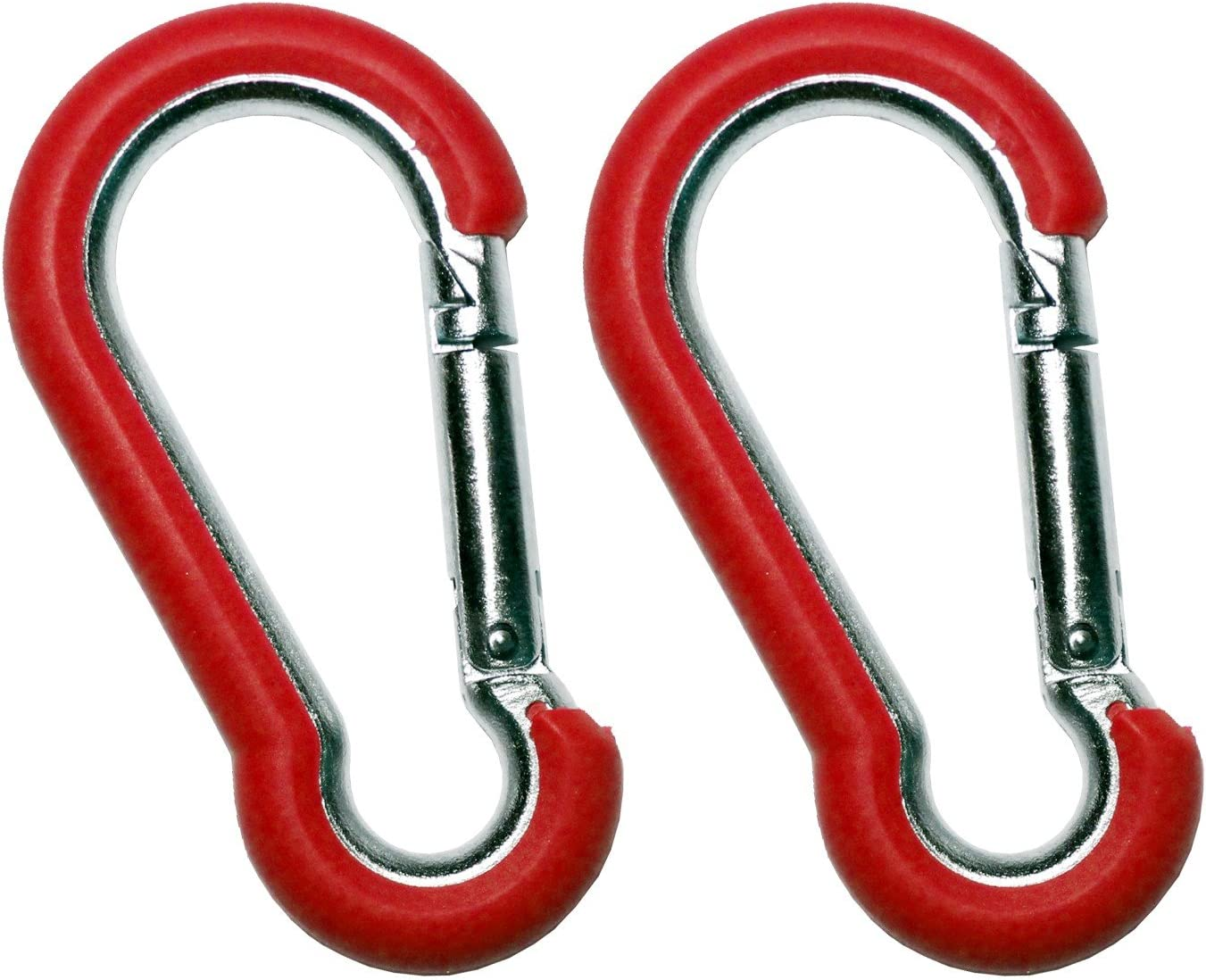Hook It Clips - Rubber Coated Stainless Steel Carabiner -