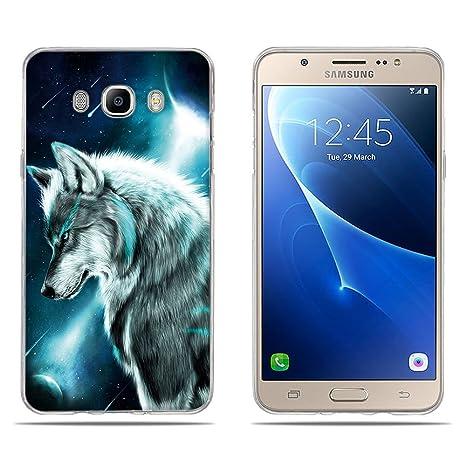 FUBAODA Funda Samsung Galaxy J7 (2016) Carcasa de Silicona ...