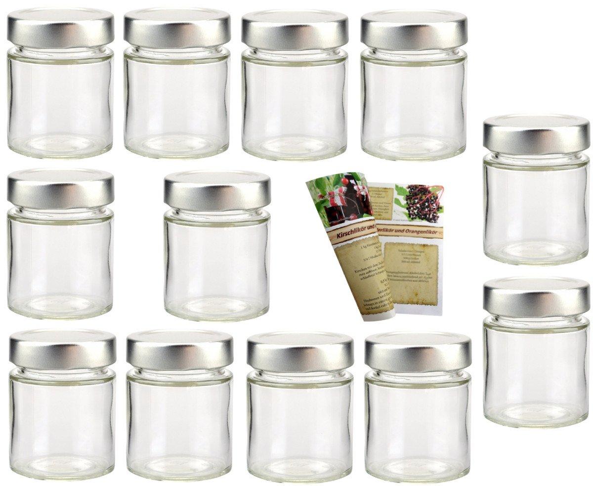 Gewürzgläser Leer empty preserving jars pack of 12 60 turning