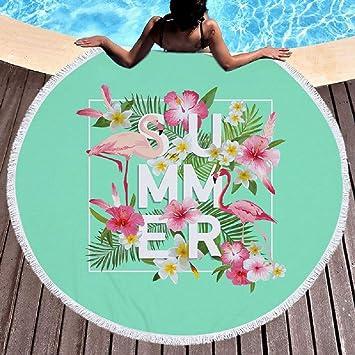 souartTM Toalla de Playa Redonda Dibujo cocodrilos Decorativas Alfombra de Picnic, poliéster, 4, 150x150cm: Amazon.es: Hogar