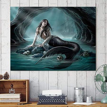 NIMCG Pintura sobre Lienzo Arte de la Pared Pintura para el ...