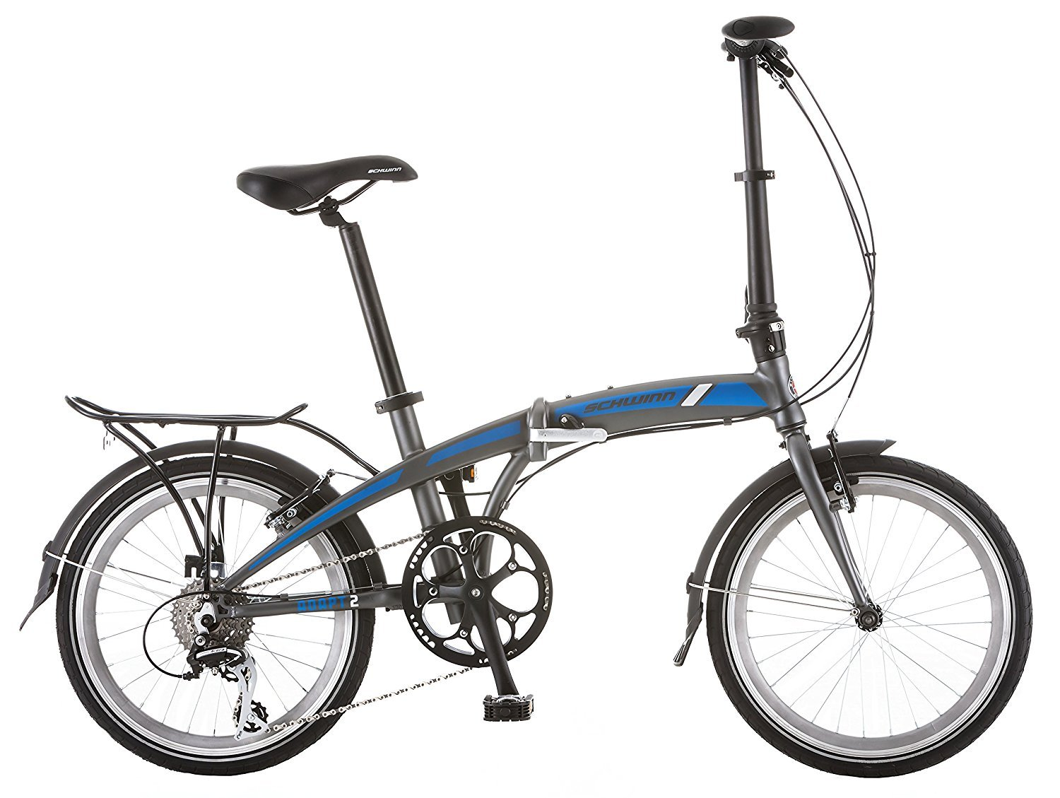 Schwinn Adapt 2 8 Speed Folding Bike Matte Charcoal 20 Wheel one size frame [並行輸入品] B072FB6J35