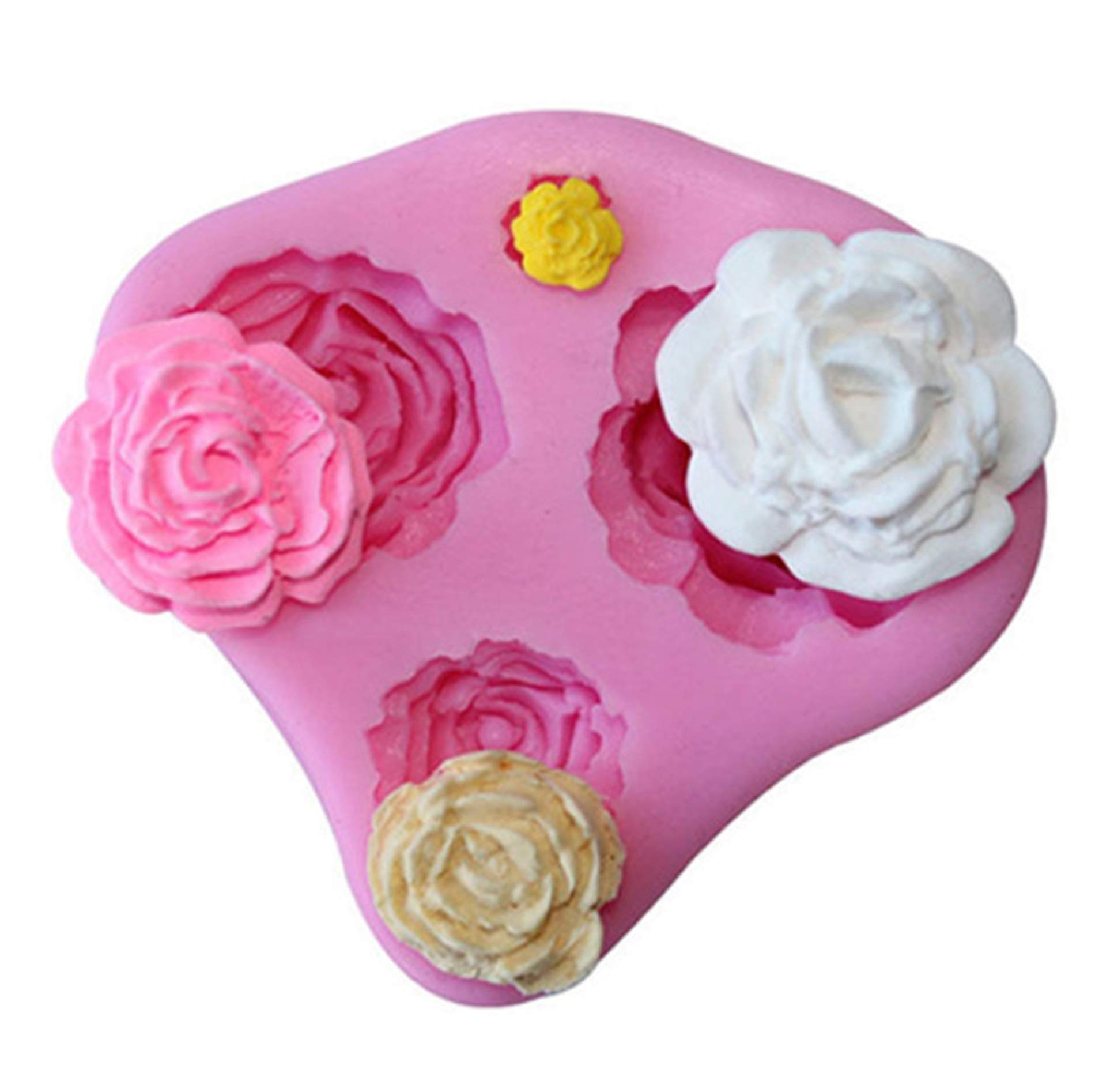 Silicone Cake Mold 3D Rose Baking DIY Tool Sugar Craft Molds for Valentine's Day Wedding Day
