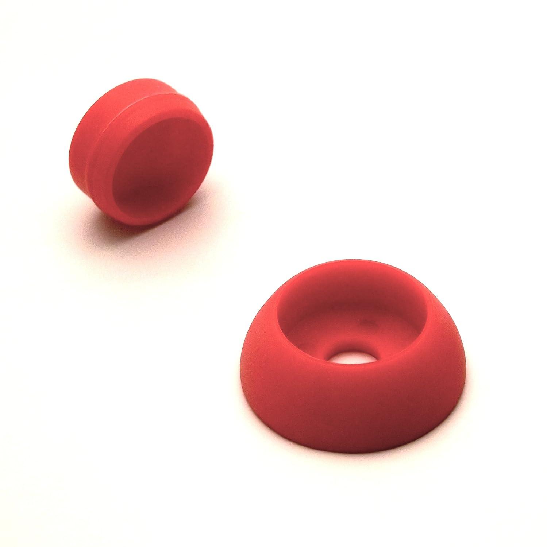 Ajile - 4 pièces - Cache de sécurité Skiffy pour vis écrou filetage diamètre 8 mm (M8) - ROUGE - FAK508