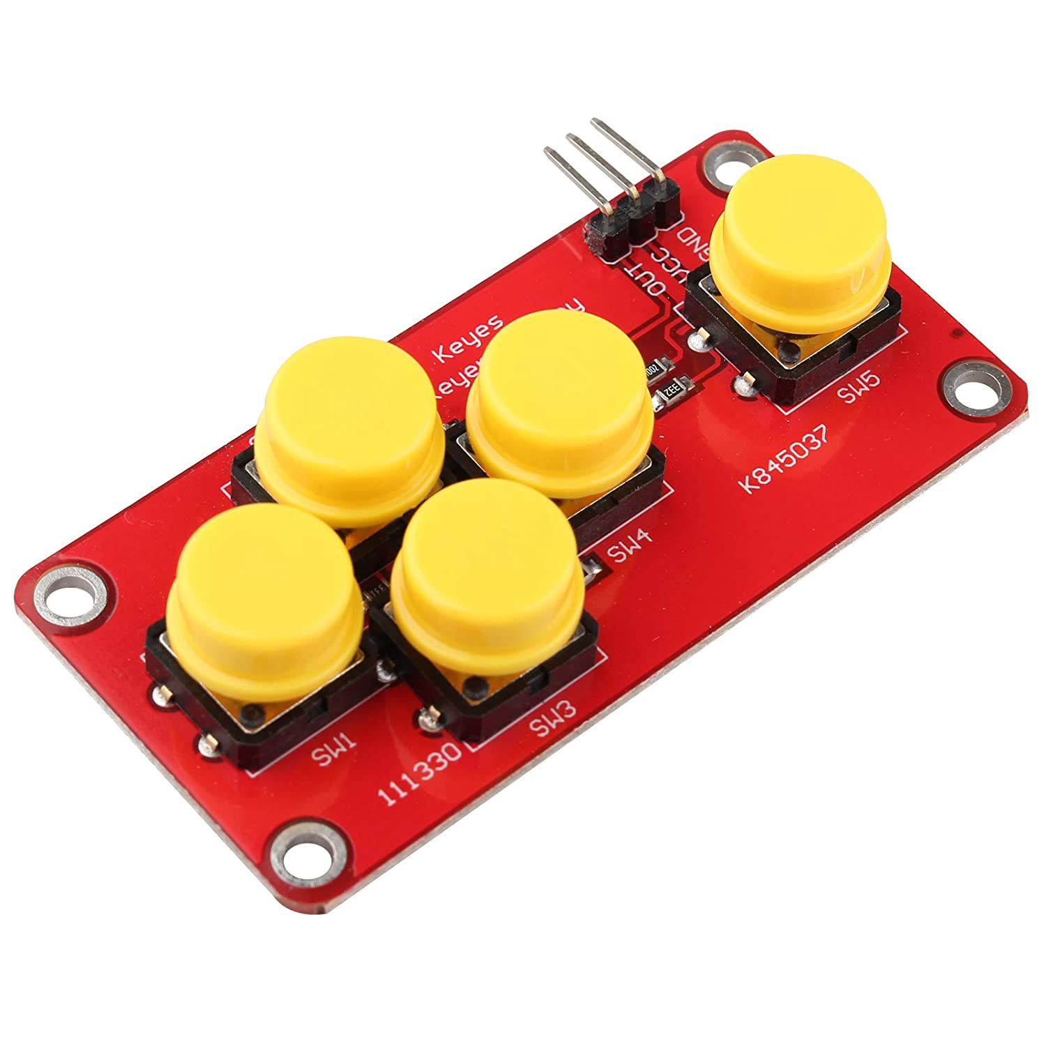 Analog Button Five Key Module for Arduino AD Keyboard Electronic Blocks Simulate