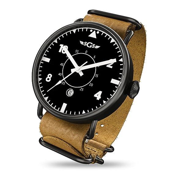 SGS Eagle ABWC - Reloj piloto de cristal de zafiro automático para hombre