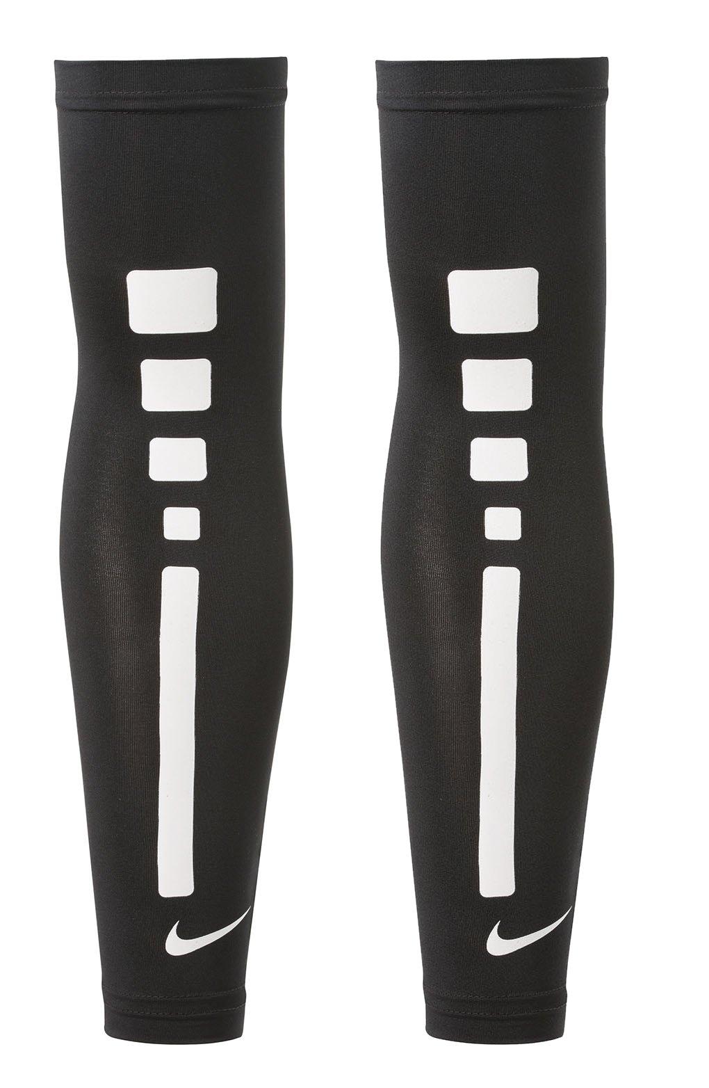 Nike Mens Pro Combat Elite Sleeve (L/XL, Black/White Basketball)