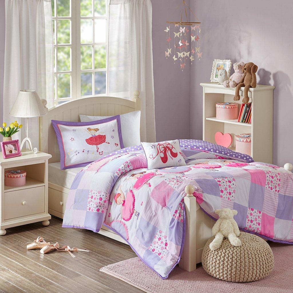 Twirling Tutu Comforter Set Purple Twin