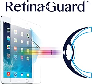 RetinaGuard iPad mini 4 Anti Blue Light Tempered Glass Screen Protector (Transparent), SGS and Intertek Tested, Blocks Excessive Harmful Blue Light, Reduce Eye Fatigue and Eye Strain