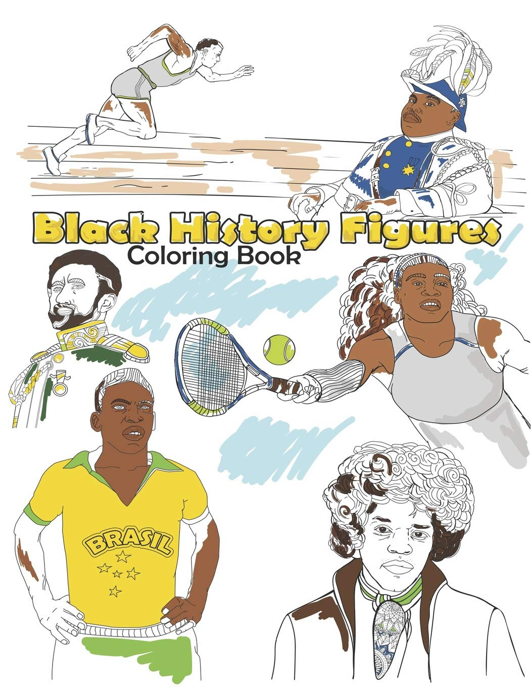 - Black History Figures Coloring Book: Famous Black People Adult