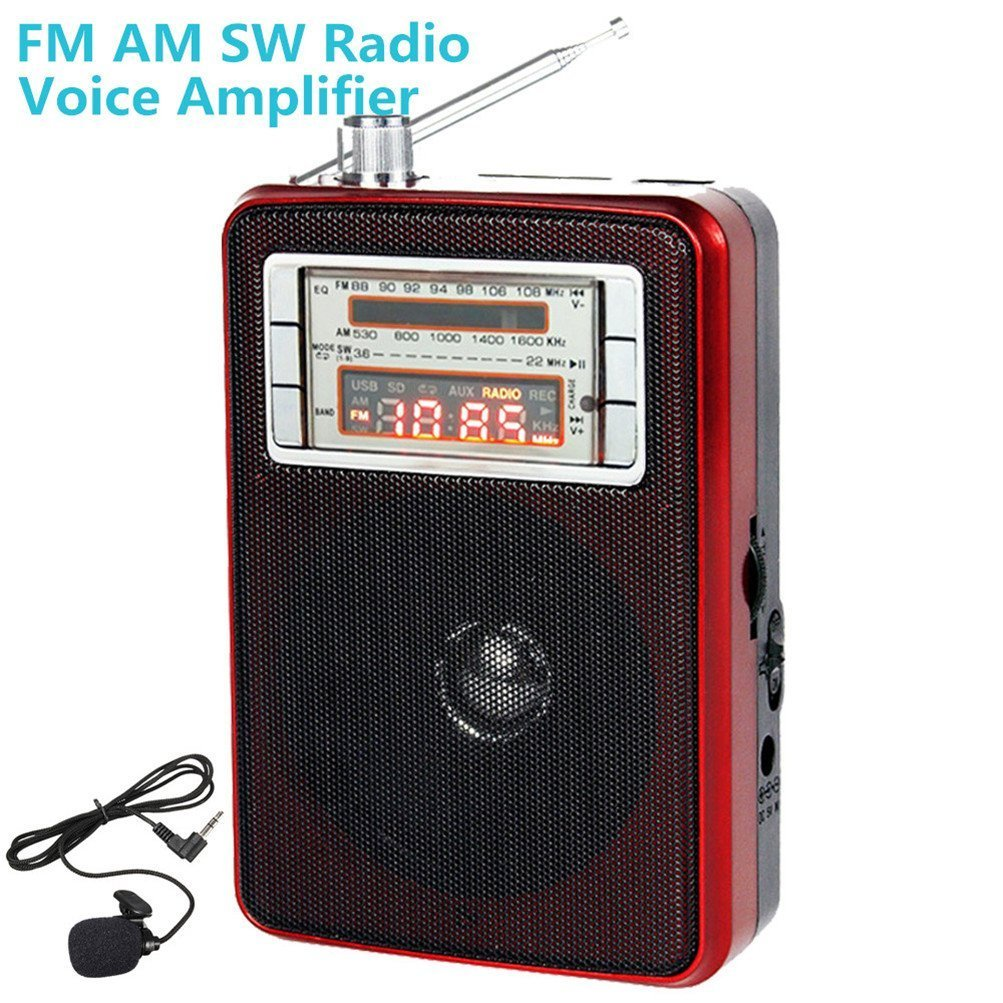 Xiaokoa Portable Fm Am Shortwave Radio With Led Light Transistor Amplifier For Smallspeaker Applications Music Player Pa System Voice Kn 1003 Home Audio Theater