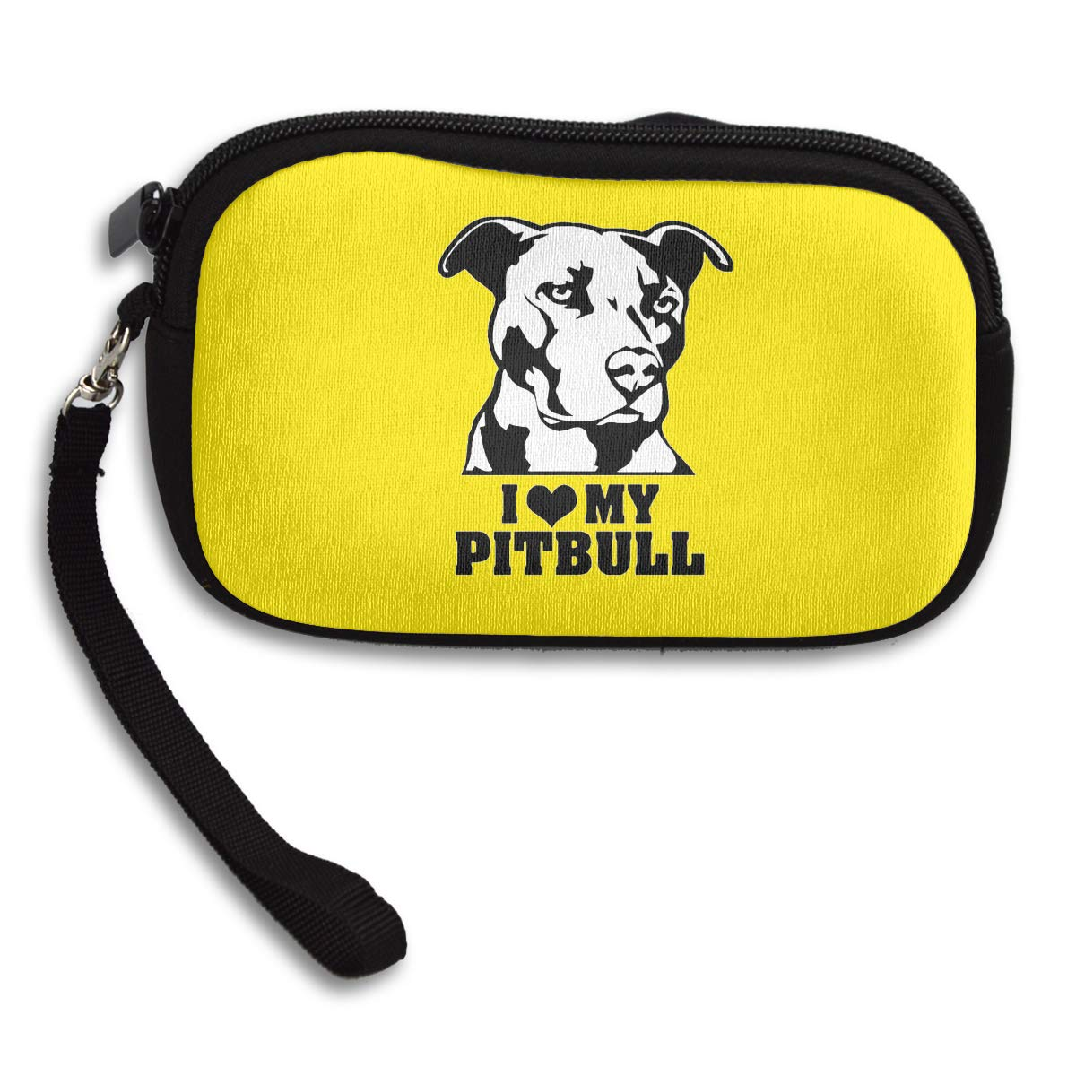 I Love My Pitbull Staffy Terrier Dog Womens Travel Wallet Bags Change Purses