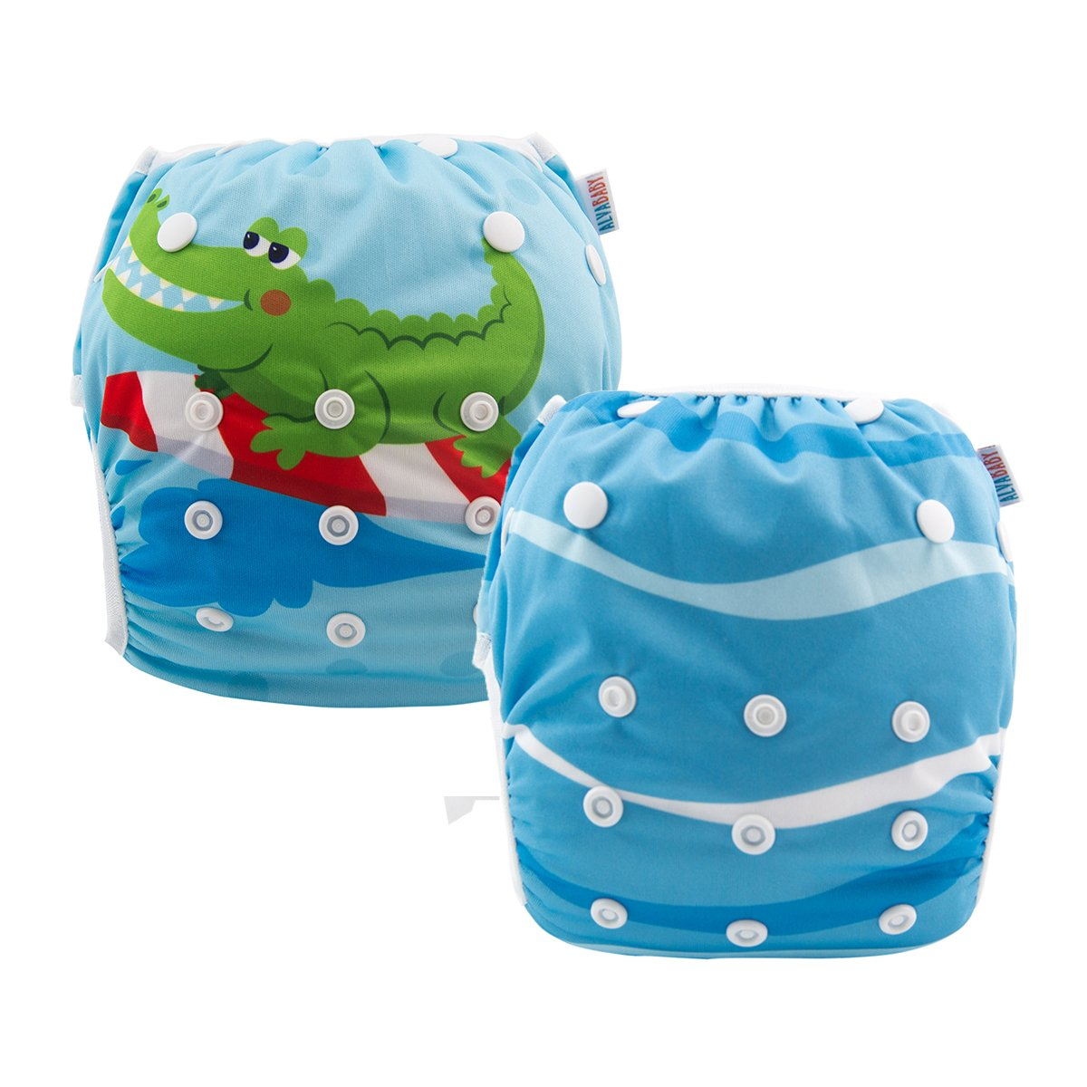 ALVABABY Swim Diapers Reuseable Washable & Adjustable 2 PCS One Size DYK29-30-294-CA