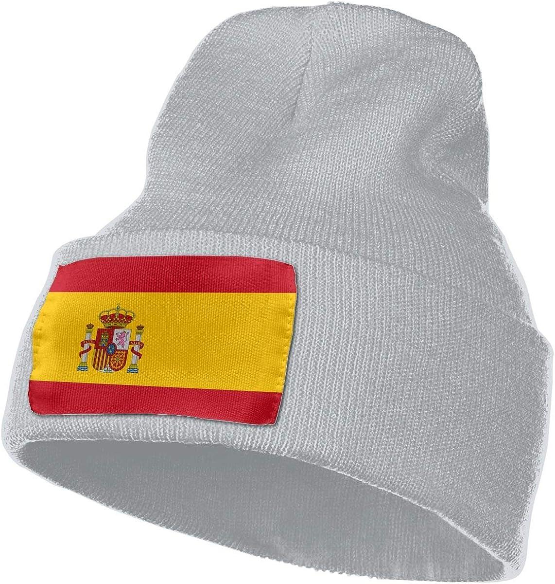 Hebb Gorro de punto elástico para hombre y mujer, diseño de bandera de España: Amazon.es: Ropa y accesorios
