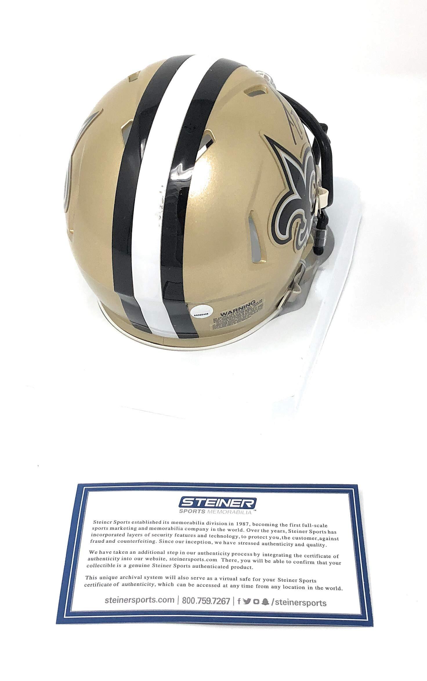 Drew Brees New Orleans Saints Signed Autograph Speed Mini Helmet Steiner Sports Certified