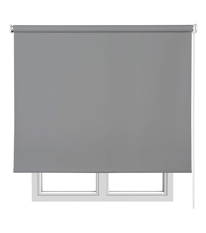 Estores Basic, estores opacos, gris oscuro, 75x175cm, estores para ventana, persianas enrollables para el interior.: Amazon.es: Hogar