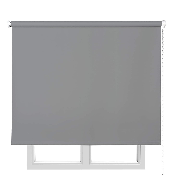 Estores Basic Opaco –  Tenda avvolgibile, Colore: Grigio Medio 75x6x175 cm Grigio Medio NAUMOIA S.L. 12211