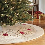 Adjustable Christmas Tree Skirt- Gold and Red