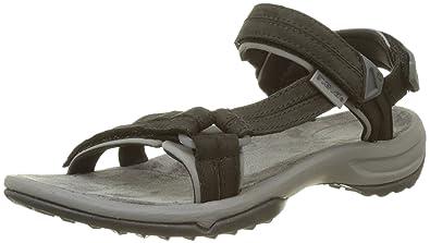 Teva Terra FI Lite Leather Schwarz, Damen Sandale, Größe EU 37 - Farbe Black Damen Sandale, Black, Größe 37 - Schwarz
