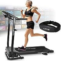 Letix Sports Motorisiertes Laufband mit APP Steuerung (Tablet, Smartphone) inkl. Pulsgurt, LCD-Display Elektrisches Fitnessgerät Heimtrainer Klappbar