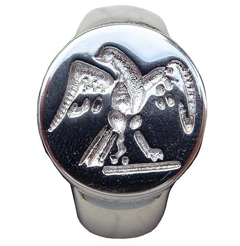 Belle anillo sello águila legión romana talla 68, acabado plata: Amazon.es: Joyería