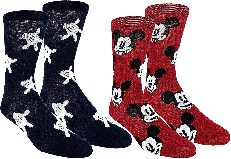 Disney mens Ducktales 2 Pack Crew Socks
