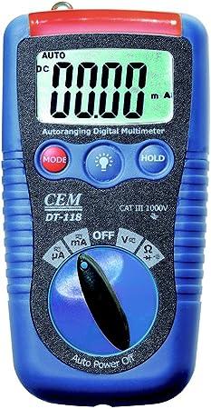 Cem Instruments Dt 118 Pocket Digital Multimeter Küche Haushalt