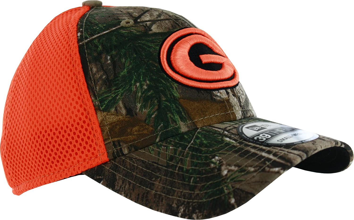 2e54916c2a4 Amazon.com   New Era Green Bay Packers Realtree Neo 39THIRTY Flex Fit Hat    Sports   Outdoors