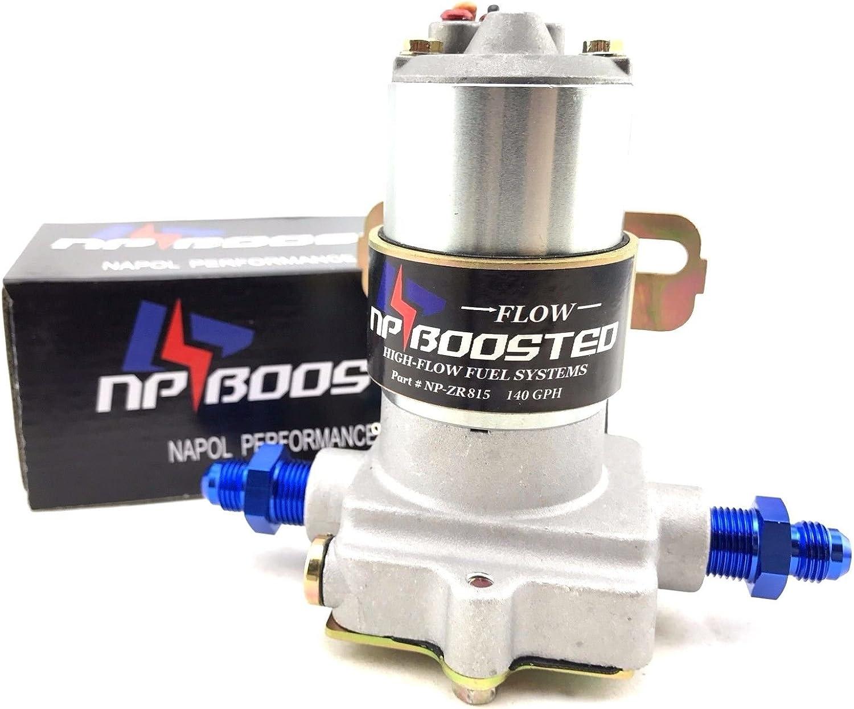 140GPH Electric Fuel Pump Inline External Setup Hotrod Carb setup /& AN6 Fittings